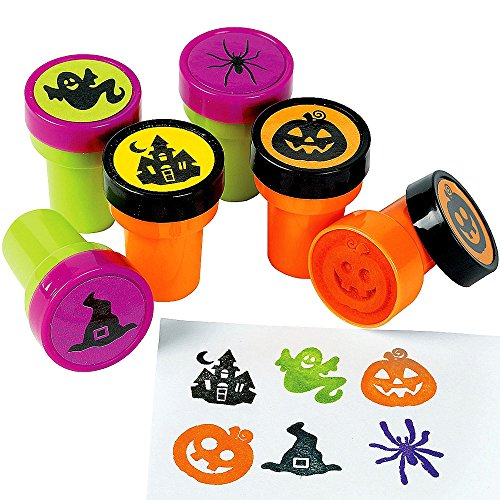 German Trendseller® - 6 x Stempel Geistervillas ┃ Kürbis ┃ Spinnen ┃ Gespenst ┃ Halloween ┃ (Geist Halloween Spiderman)