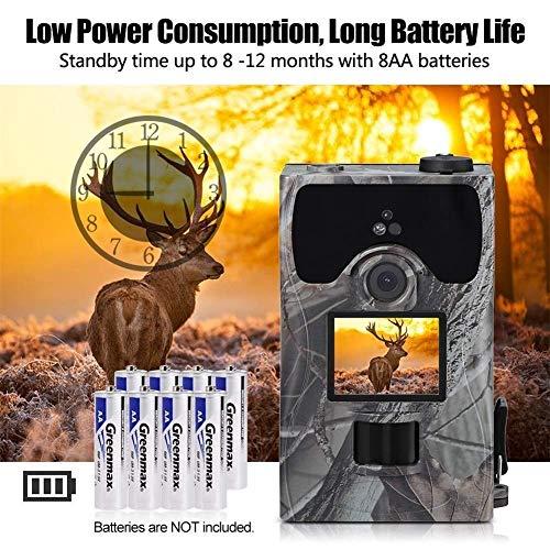 Jagdkamera, 16MP, 0,2 s Geschwindigkeit Super Fast Trigger Infrarot LEDs Hinterkamera IR Trap Game Wildlife Scouting Kamera, 1080P HD Video