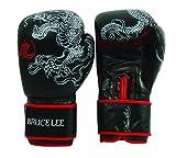 Bruce Lee Boxhandschuhe Dragon gelb schwarz, 14 oz