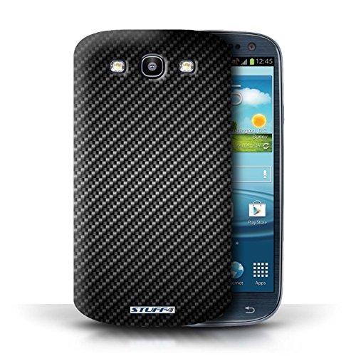 Etui pour Samsung Galaxy S3/SIII / Gris conception / Collection de Motif de Fibre de Carbone Gris
