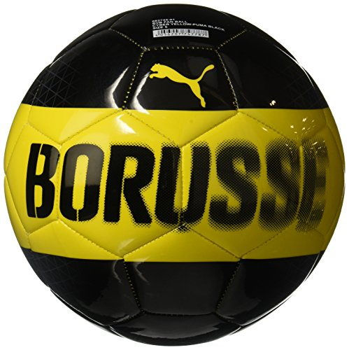 PUMA Bvb Fan Ball, Cyber Yellow-Puma Black, 5 (Ball Fußball Puma)