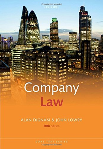 Company Law (Core Texts Series) por Alan Dignam
