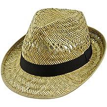 EveryHead Kai Balke Sombrero De Paja Los Hombres Cosecha Jardinero Verano  Fedora Equinácea Unisex con Banda cb725c53dc6