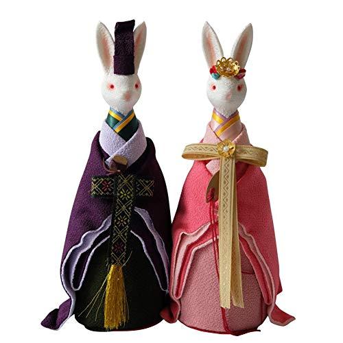 GQQ Japan Kimono Kaninchen Spieluhr,Romantisch Handwerk(Männliches Kaninchen X1, -