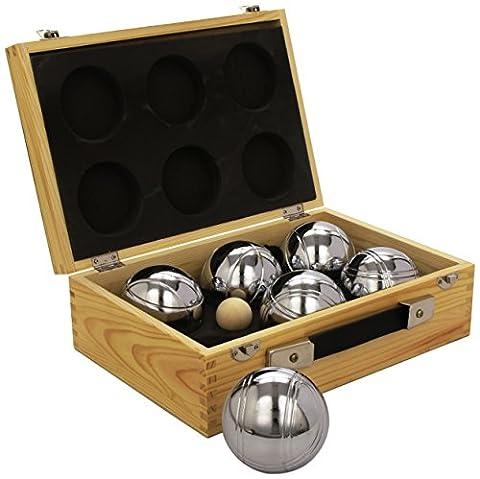 Set de Pétanque 6 boules + malette Poker Poker en bois
