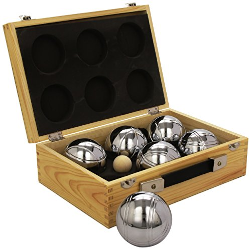 Weiblespiele 010205 - Boules-Set in Holzkiste, 6-teilig