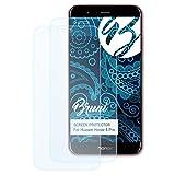 Bruni Schutzfolie für Huawei Honor 8 Pro Folie, glasklare Displayschutzfolie (2X)