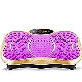 ZDYDM Entrenador De Vibración Unisex, Máquina De Gimnasio Vibration Power Plates con 5 Modos De Música Bluetooth para Bajar De Peso, Púrpura