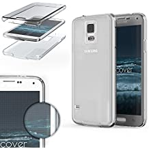 Urcover® Samsung Galaxy S5 | Funda Carcasa Protectora 360 Grados | TPU en Transparente | Protección Completa Case Cover Smartphone Móvil Accesorio