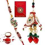 #6: Gomati Ethnic Jaipuri Handmade Ethnic Design Bhaiya Bhabhi Rakhi Gift Set Rakhi For Bhaiya Bhabhi rakhi for bhaiya bhabhi Bhaiya Bhabhi Rakhi