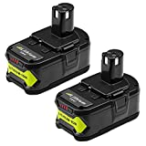 2X Hochstern 18V 5.0 Remplacement de la batterie Li-ion pour Ryobi ONE + RB18L50...