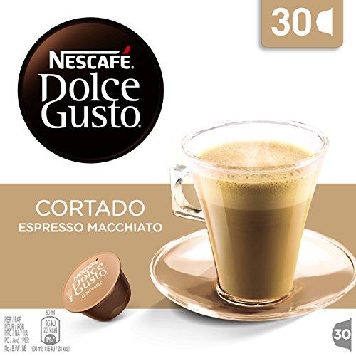 Nescafé Dolce Gusto 30er Box Cortado, Kaffee, Cafe, Kaffeekapsel, 30 Kapseln