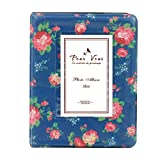 #1: Instax Album for 8,8+, 9, 70, 7S, 90, 50, 25S (64 Pockets) Floral Blue Design Instax Mini Pink Flowers