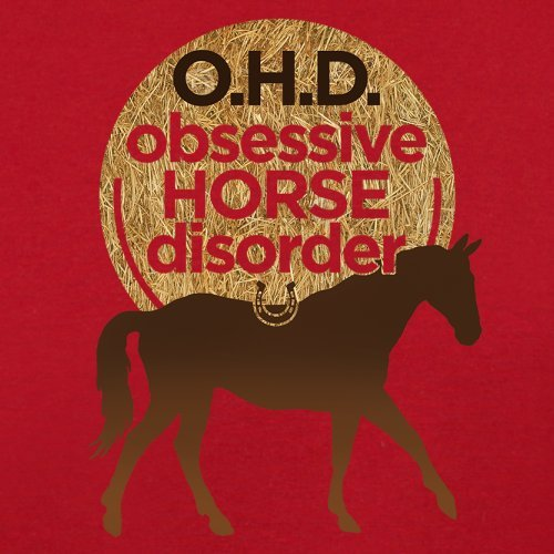 Bessessene Pferde Störung - Herren T-Shirt - 13 Farben Rot
