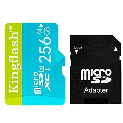 Kingflash 256GB MicroSD Class 10 Memory Card (Blue)