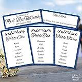 Hochzeit Tisch-Plan Dekoration Stationery glitzernden Farbe personalisierbar Hochzeit Vintage Rustikaler Shabby Chic Novelty Andenken-personalisierbar jeder Größe, Farbe, Text A4A5A6A7