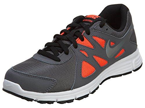 Nike Revolution 2 GS, Unisex - Kinder Laufschuhe Grau / Wei
