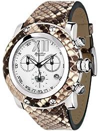 Glam Rock 0.96.2489 - Reloj analógico de cuarzo unisex, correa de cuero multicolor