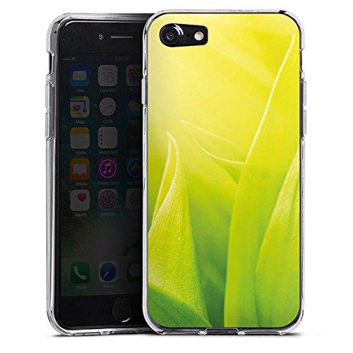 Apple iPhone X Silikon Hülle Case Schutzhülle Grashalm Blätter Natur Silikon Case transparent