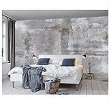 3D Wallpaper Wandbild Papier KundenspezifischeHauptdekorationswandbilder Euro-Retro- Nostalgiewandwandbild-Hintergrundwand-Betonmauer Seidentuch-Aufkleber400X280Cm,Ayzr
