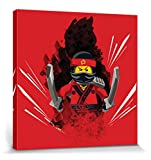 1art1 106982 The Lego Ninjago Movie - Kai Smith Poster Leinwandbild Auf Keilrahmen 40 x 40 cm