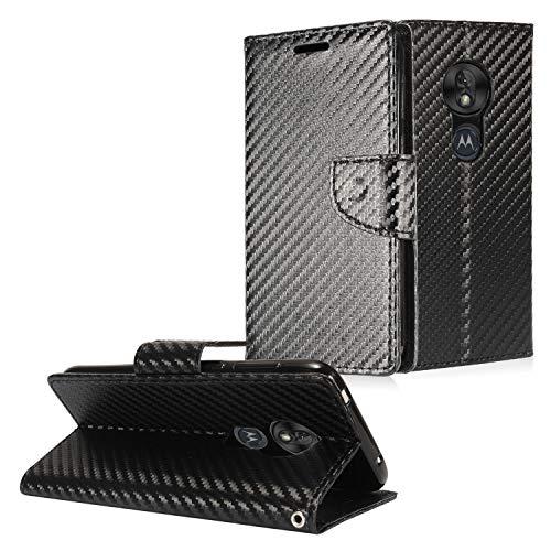 Z-GEN Schutzhülle für T-Mobile Revvlry, Motorola Moto G7 Play, G7 Optimo XT1952/DL, Flip Wallet Case, CT5 Carbon Fiber/Black