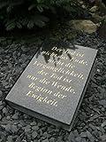 Grabstein in Buchform Bibel Urnengrabstein 34cm x 26cm x 6cm Liegestein Grabstein Buch inklusive Gedicht