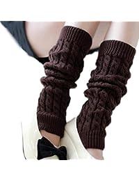 FINEJO Women's Winter Crochet Knitted Boot Cover Leg Warmers Legging Sock