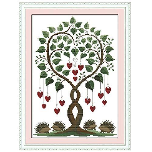 MIKI-Z Herz Baum DIY Handarbeit Handarbeit gezählt 14CT gedruckt Kreuzstich Stickerei Kit Set Home Decoration -
