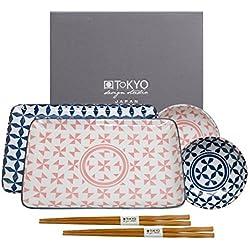Tokyo Design Studio, Geometric Eclectic, Sushi Set, 6-teilig, Japan