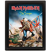 1art1® Iron Maiden - Eddie The Trooper, Póster 3D Enmarcado Póster 3D (Enmarcado) (25 x 20cm)