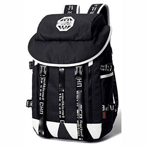Art Und Weise Kursteilnehmer-Schule-Beutel-männlicher Rucksack-Schulter-Beutel-beiläufiger Spielraum-Tagesbeutel-Laptop-Beutel,LightGray Black