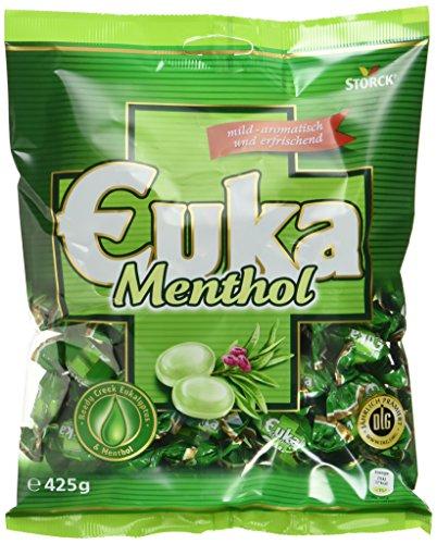 Euka Menthol – Aromatisch-milde Lutschbonbons mit wohltuendem Eukalyptus – (15 x 425g Beutel)