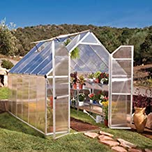 Palram 701944 8 x 12 ft Esencia Incluye de Efecto Invernadero policarbonato Transparente/Marco de