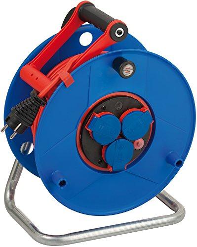 Brennenstuhl Garant Bretec IP44 Kabeltrommel (50m, Spezialkunststoff, kurzfristiger Einsatz im Außenbereich)