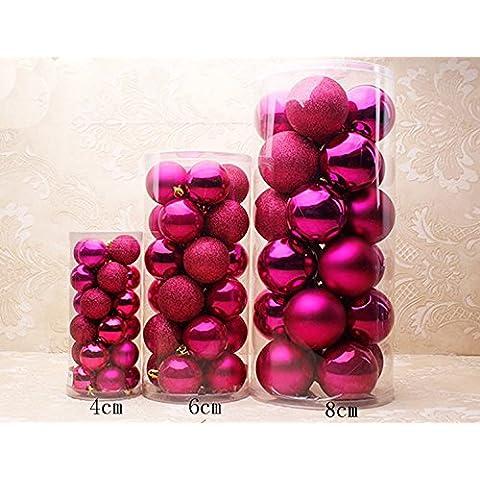 touber Multicolore e lucido e opaco Drenched & Glitter Natale palle di Natale Ciondolo Decorazioni Palline Colorate, Confezione da 24