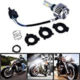 Ralbay motocicleta bombilla LED faro 32w 3000lm H4 de alta baja haz de 360 ° 3-Side faros 6000k blanco