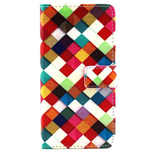 MOONBAY MALL Chic Wallet Case Classic Pour Apple iPhone SE / iPhone 5SE / iPhone 5E PU Cuir Étuis Flip Cover housse, Stylus et Film protecteur inclus. A29 A03