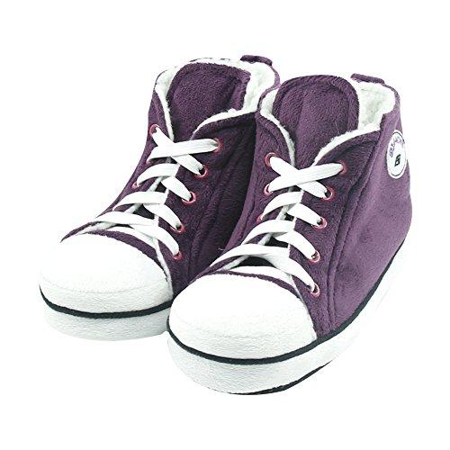 Gohom , Bottes Chelsea homme Dark Purple&White