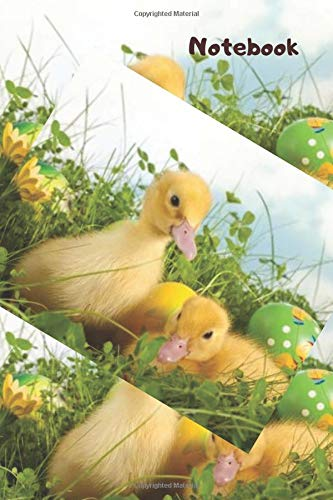 Notebook: 100 pages lined journal  Easter ducklings - Egg Easter Lego
