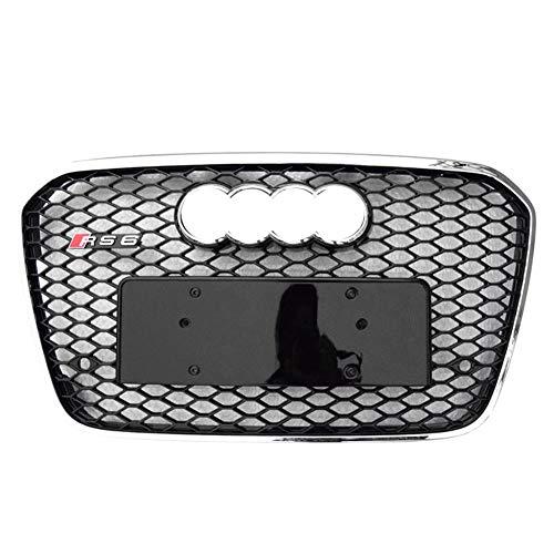 Xinshuo ABS Griglia radiatore Anteriore a Nido d'Ape in ABS per RS6 Style A6 / S6 2012-2015 1 Confezione