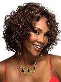 Meylee Perruques Perruque de cheveux boucles courtes brésiliens pour femmes noires Cosplay perruque + un chapeau perruque gratuit , picture color