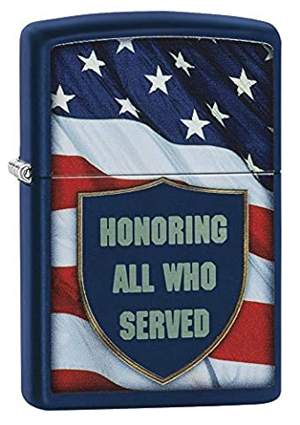 Zippo All Who Served Regular Lighter - Navy Blue