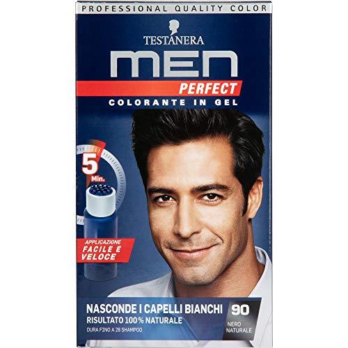 Testanera - Perfect Men, Colorante in Gel, 90 Nero Naturale - 1 confezione