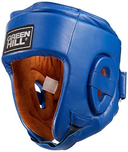 GREEN HILL Casco DE Boxeo HOMOLOGADO AIBA Abierto Boxing Amateur Combate APROVADO AIBA M, Azul