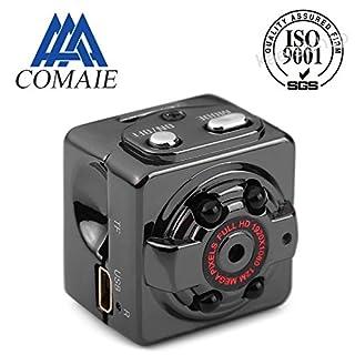 AIHOME Mini DV Kamera 1080p HD IR Nachtsicht DVR Video Recorder SQ8Hidden Spy Schwarz Full Auto-Kamera