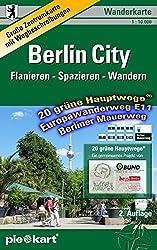 Berlin City 1 : 10.000 Wanderkarte: Detaillierte Zentrumkarte mit den 20 grünen Hauptwegen®, dem Berliner Mauerweg und dem Europawanderweg E11 sowie ausführlichen Wegbeschreibungen