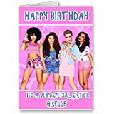 gorgeous little mix birthday card - personalised