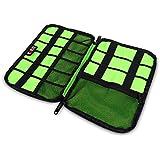 Damai Tragbare Reisetasche für Electronisches Zubehöre Tasche Case Tragetasche Wasserdicht für USB Drive Shuttel, Festplatte, Kabel und sonstiges Zubehör (Schwarz)