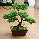 2018 JIAN-PLA Künstliche Bonsai Baum Pflanze für Büro Zuhause Dekoration, Feng Shui Deko,Japanischer Pinien,Höhe ca.13.39